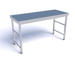 Mesa desmontable de acero inoxidable 1000x600x850mm